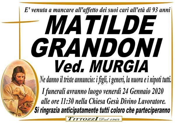 MATILDE GRANDONI Ved. MURGIA
