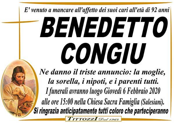 BENEDETTO CONGIU