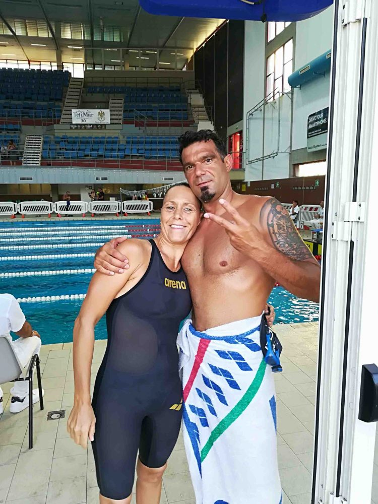 Michela D'Amico e Maurizio Valiserra entrano nella Top 10 Master di nuoto e portano Civitavecchia a livelli mondiali