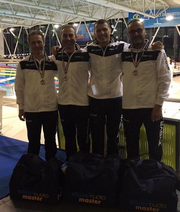 Strepitosi i nuotatori della Cosernuoto Fiorentini alle gare regionali Master