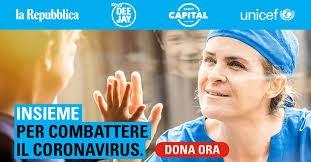 Unicef supportata da tre testate nazionali per la campagna contro il Coronavirus