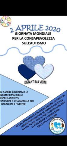 GIORNATA MONDIALE DELL'AUTISMO Un cuore o una farfalla blu su finestre e balconi di Tarquinia