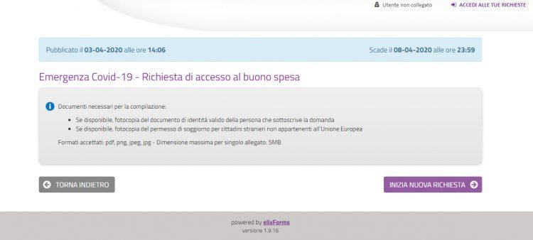 Covid19, online i moduli per accedere ai buoni spesa del Comune di Civitavecchia