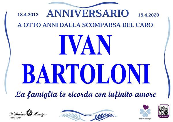 IVAN BARTOLONI – Anniversario