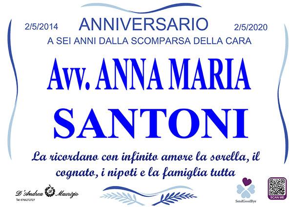 Avv. ANNA MARIA SANTONI – Anniversario