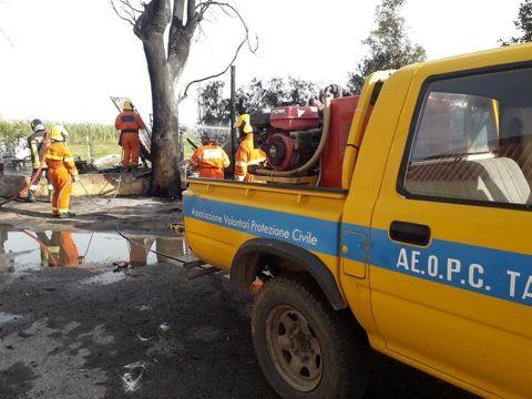 TARQUINIA - Lungo lavoro ieri pomeriggio anche per i volontari ...