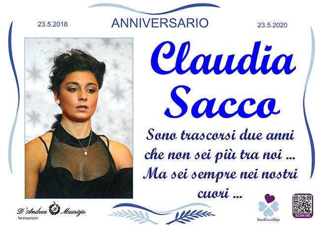 CLAUDIA SACCO – Anniversario