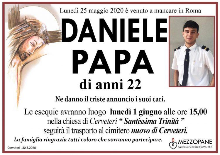 DANIELE PAPA di anni 22