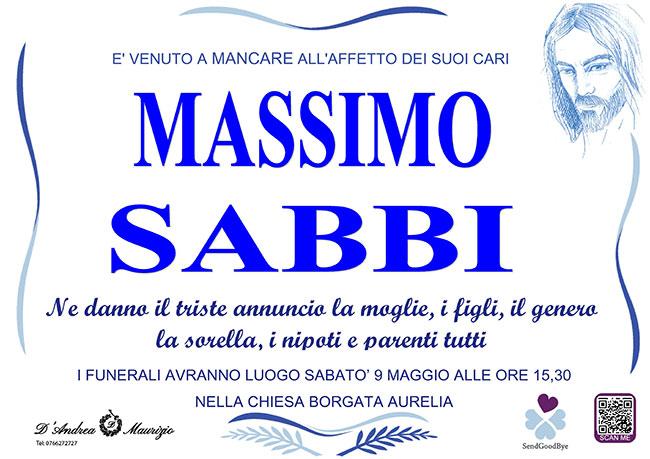 MASSIMO SABBI
