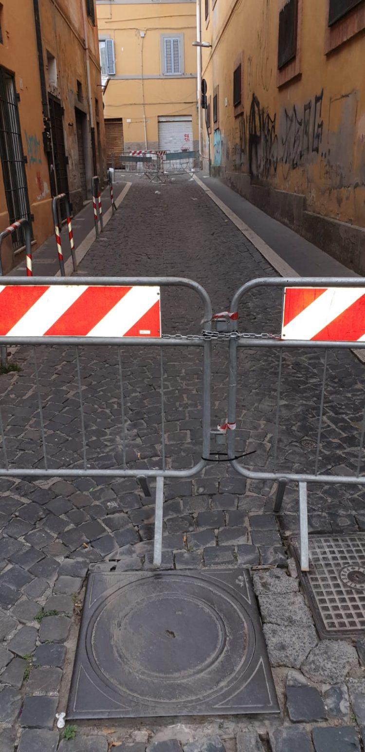 Bloccato l'accesso a via Barberini