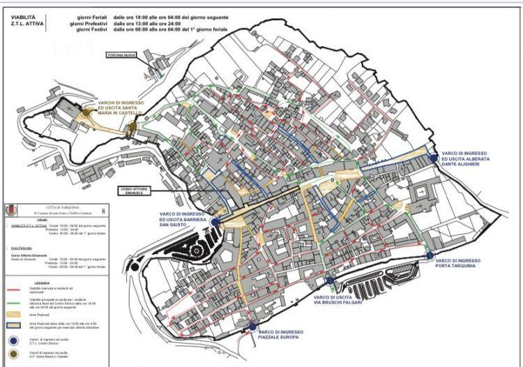 Ztl in centro a Tarquinia: pronti i moduli per il rilascio dei contrassegni