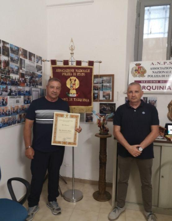 Tarquinia, Alessandro Deidda medaglia d'oro al valor civile riconosciuto socio onorario dell'Anps