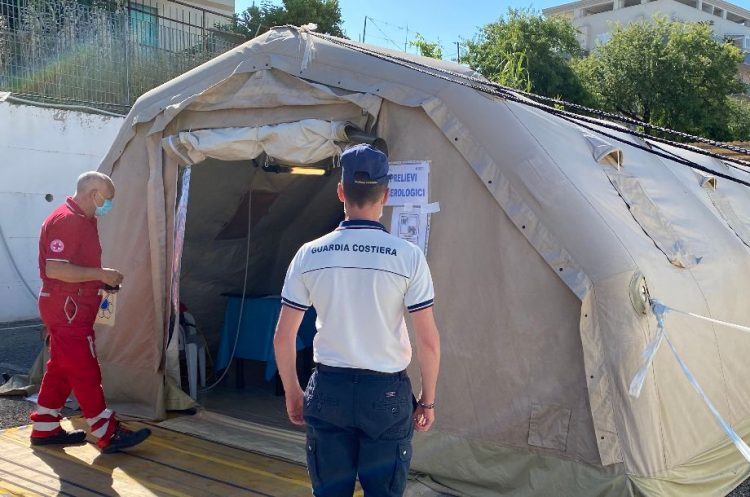 Test sierologici anche per il personale della Capitaneria di porto