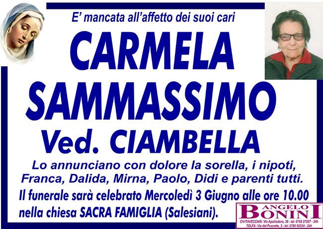 CARMELA SAMMASSIMO ved. CIAMBELLA