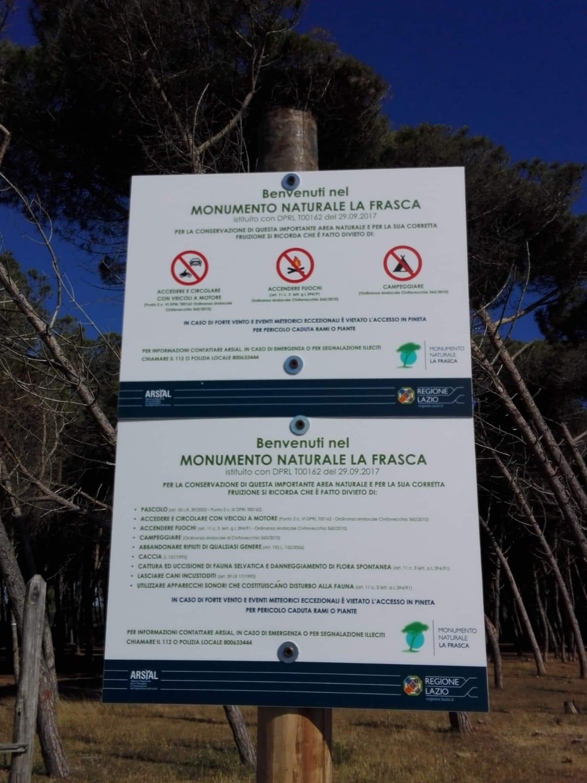 Monumento Naturale La Frasca, frequentatori e Lipu denunciano atti vandalici