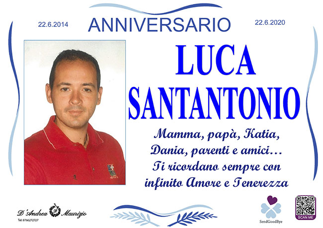 LUCA SANTANTONIO – Anniversario