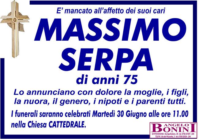 MASSIMO SERPA di anni 75