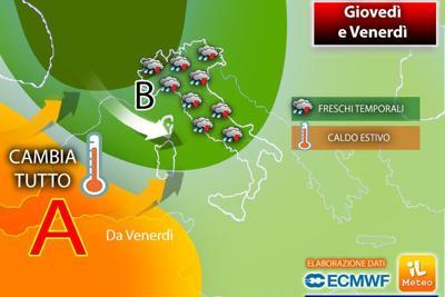Meteo, Italia sotto la pioggia e giù le temperature