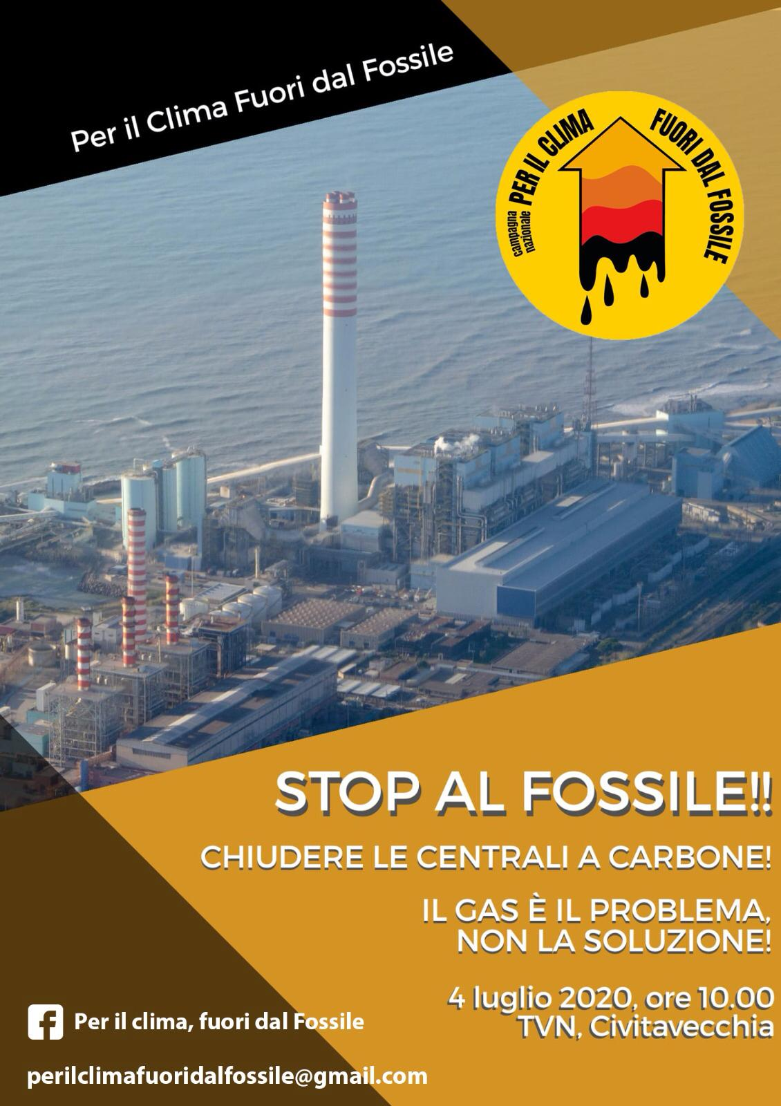 """""""No al Fossile"""", manifestazione dei comitati ambietalisti ill 4 luglio a TVN"""