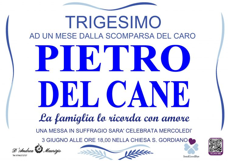 PIETRO DEL CANE – Trigesimo