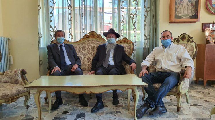 Il rabbino Ytzchak Hazan in visita nella Perla