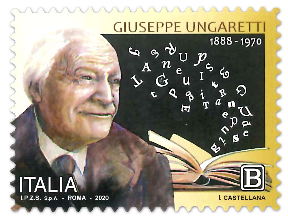Francobollo tematico dedicato a Giuseppe Ungaretti
