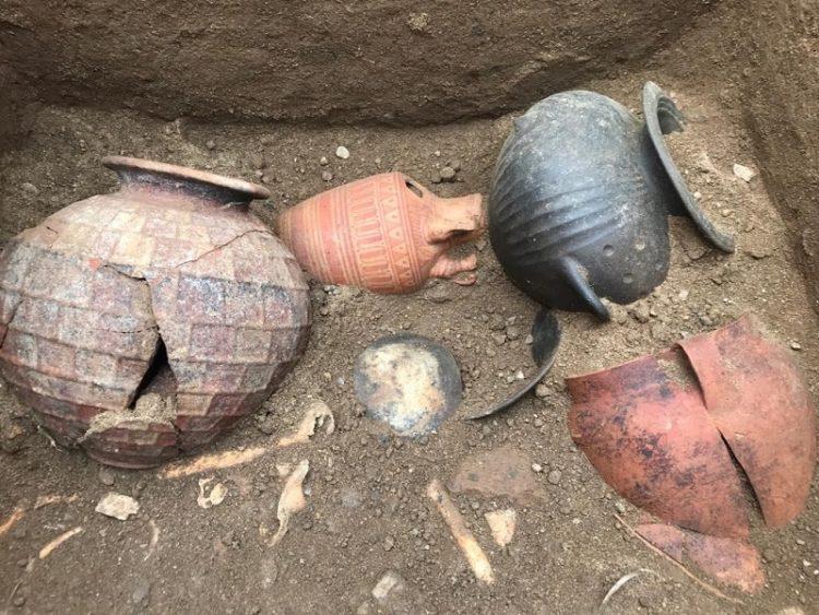Scoperta a Vulci la tomba di un bambino etrusco