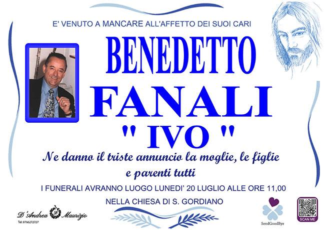 """BENEDETTO FANALI """"IVO"""""""