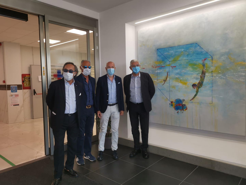 Inaugurata l'opera donata da Chirico all'ospedale di Civitavecchia