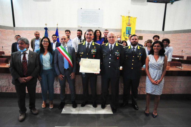 Cittadinanza onoraria alla Stazione navale della Gdf