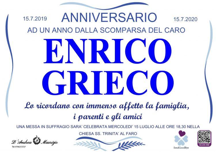 ENRICO GRIECO – Anniversario