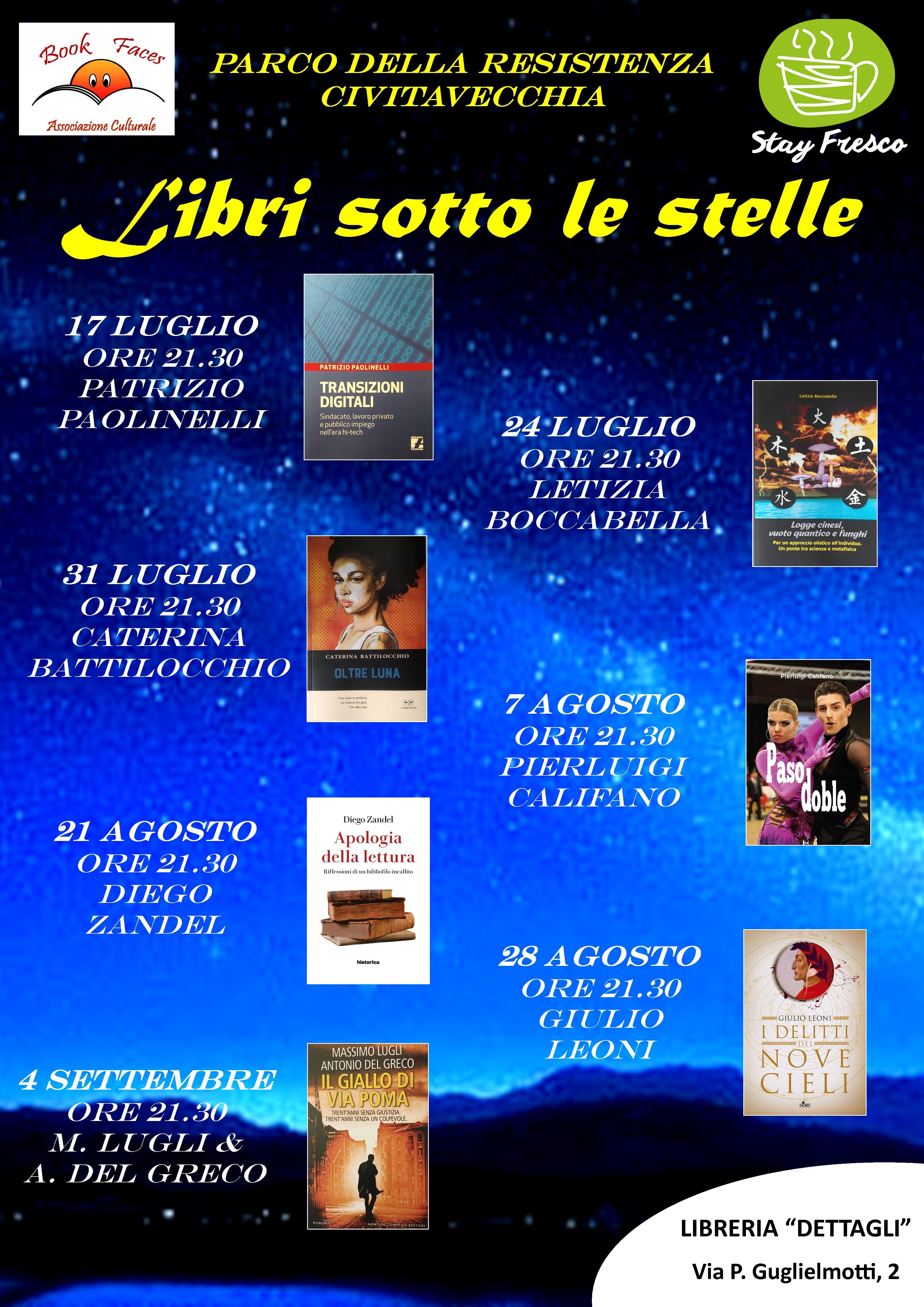 """""""Oltre luna"""" ospite a 'Libri sotto le stelle'"""