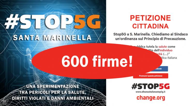 """Petizione del Comitato """"Stop 5G Santa Marinella"""""""