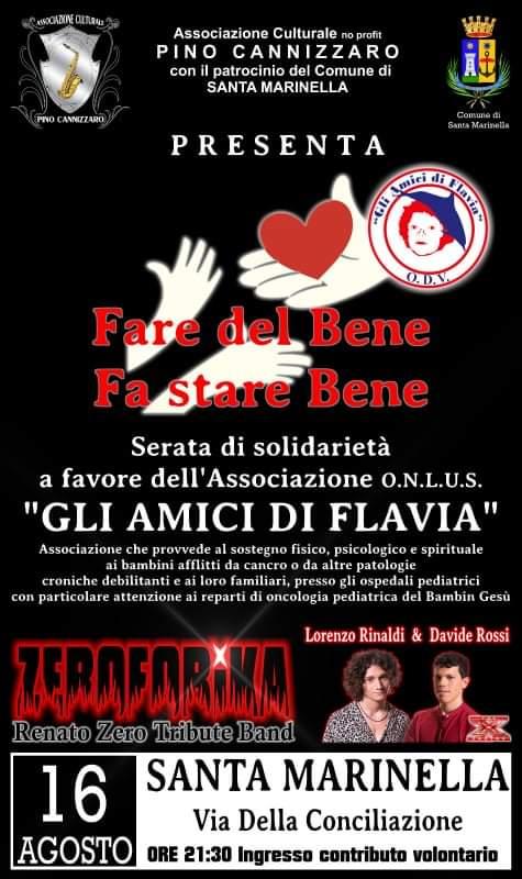 'Fare del Bene fa stare Bene', serata di solidarietà per la Onlus 'Gli amici di Flavia'