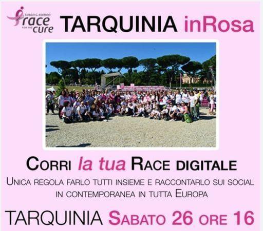 """""""Tarquinia in Rosa"""" con grande entusiasmo aderisce alla """"Race for the Cure 2020"""","""