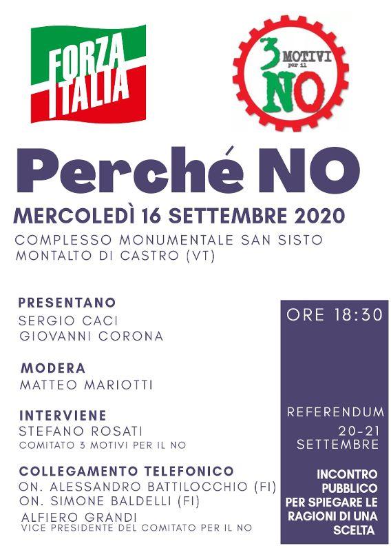A Montalto il convegno di Forza Italia sul no al referendum
