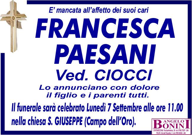 FRANCESCA PAESANI ved. CIOCCI