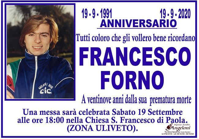 FRANCESCO FORNO – Anniversario