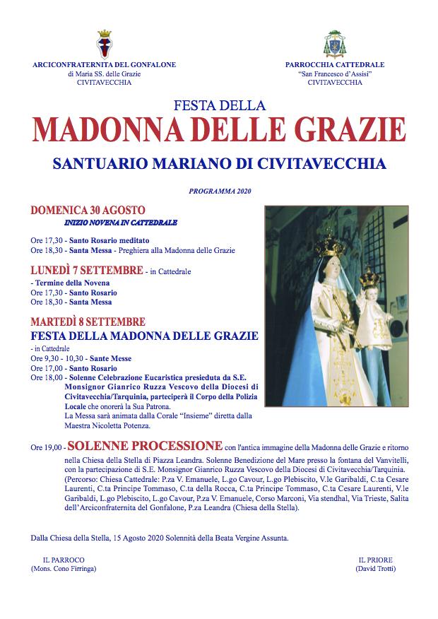 Madonna delle Grazie, domani la solenne processione a Civitavecchia