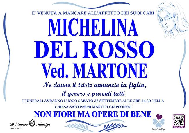 MICHELINA DEL ROSSO ved. MARTONE