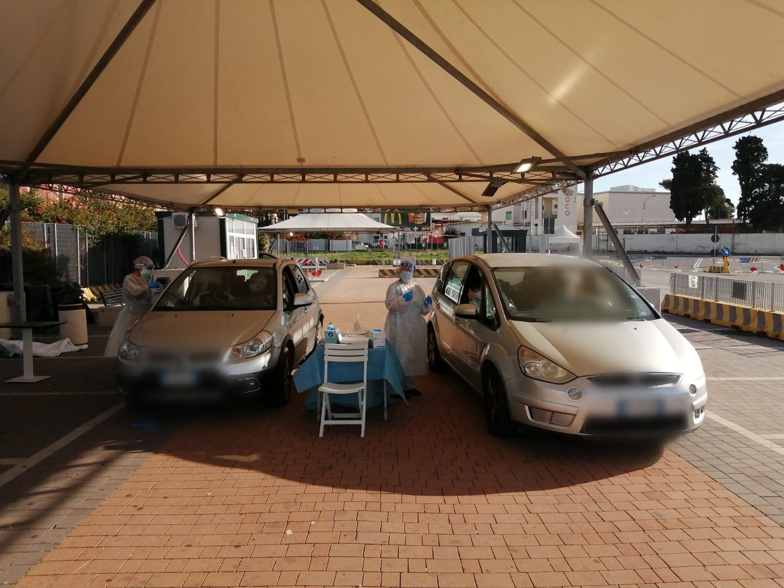 Covid, operativo il drive-in in porto: sarà aperto fino alle 20