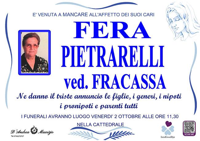 FERA PIETRARELLI ved. FRACASSA