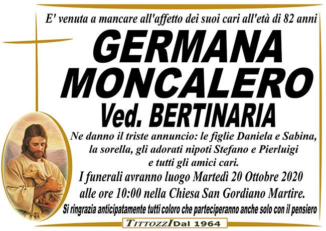 GERMANA MONCALERO ved. BERTINARIA