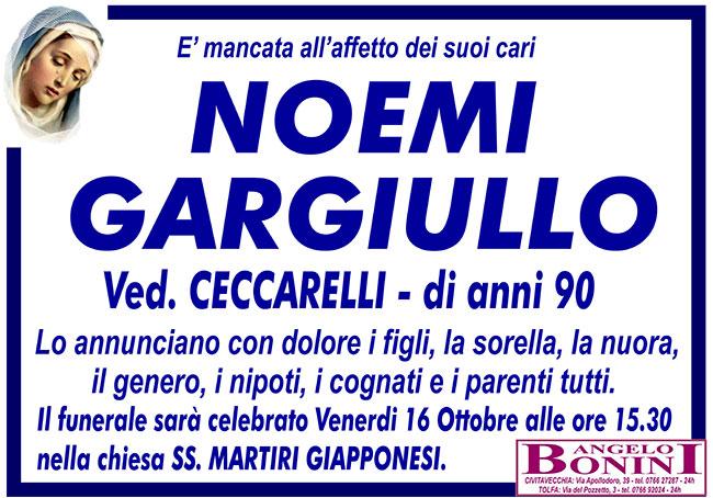 NOEMI GARGIULLO ved. CECCARELLI di anni 90