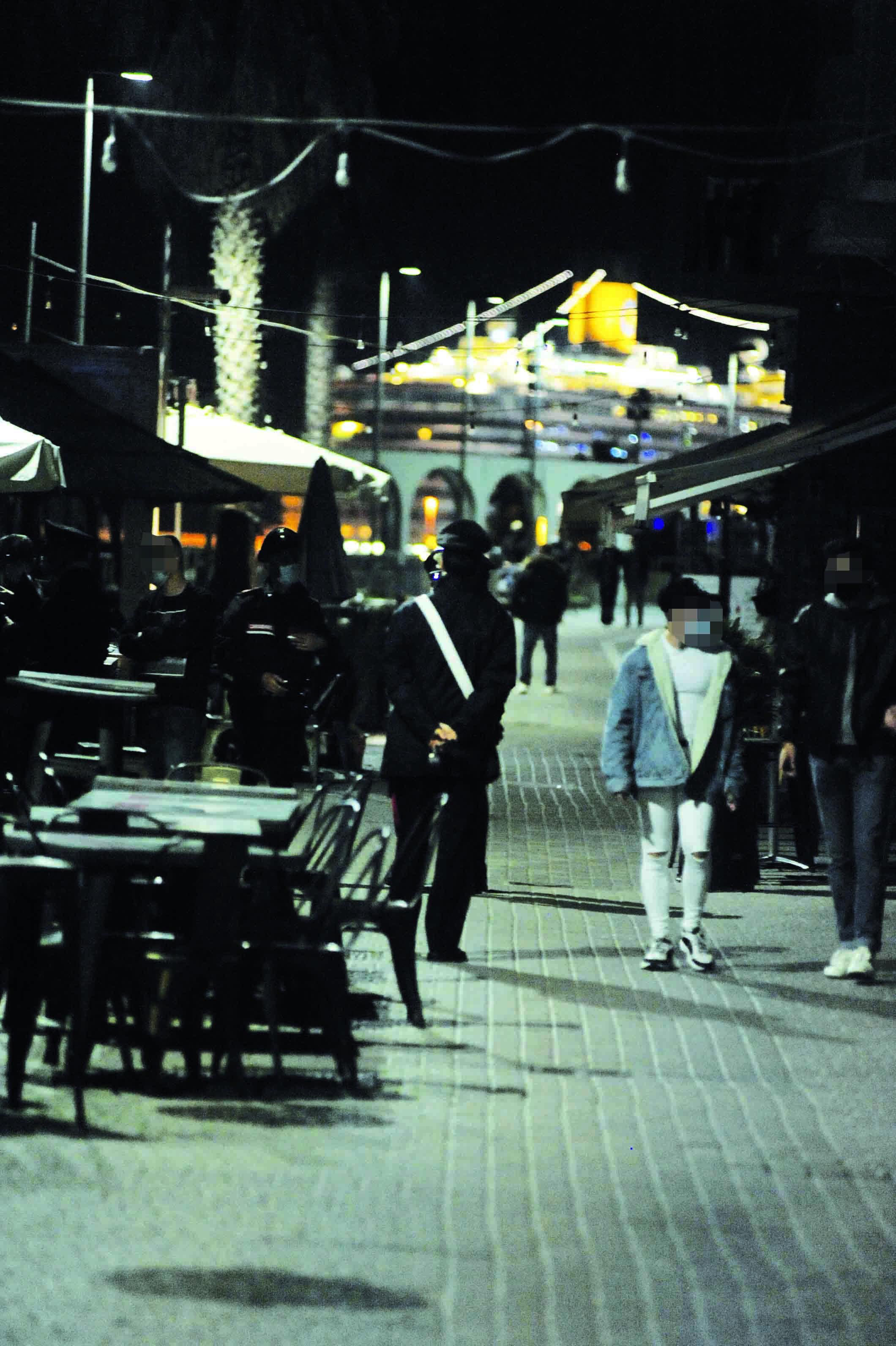 Norme anti covid: giro di vite al Pirgo e a viale Garibaldi