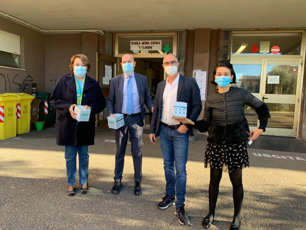 """Pincio, l'assessore Galizia: """"Distribuite 1000 mascherine Ffp2 nelle scuole"""""""