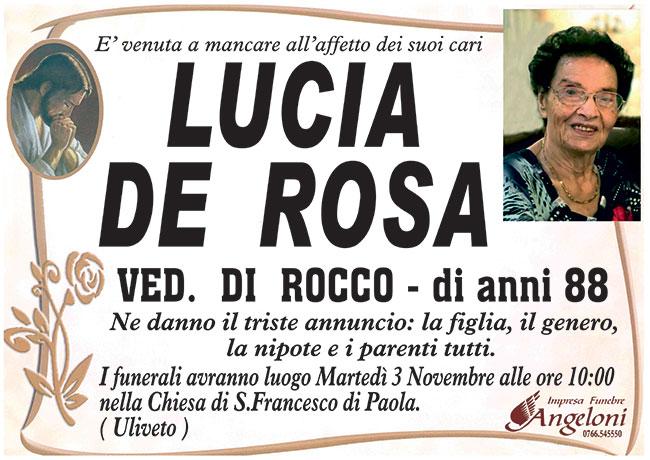 LUCIA DE ROSA ved. DI ROCCO di anni 88