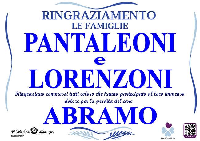 ABRAMO PANTALEONI – Ringraziamento