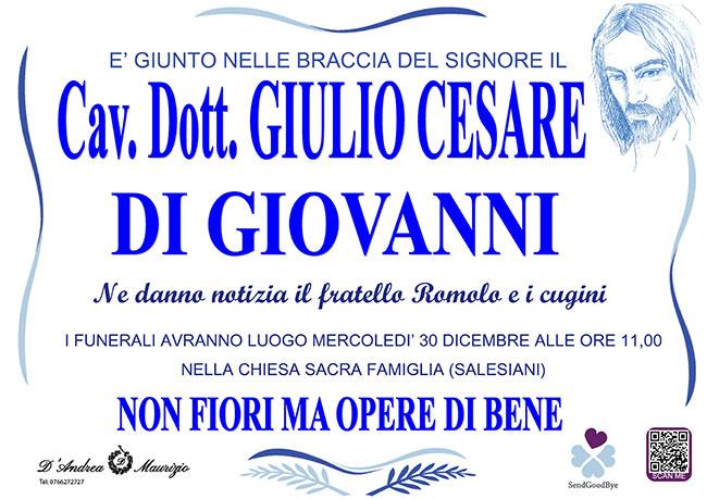Cav. Dott. GIULIO CESARE DI GIOVANNI