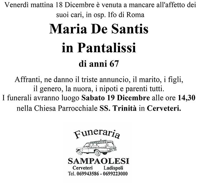 MARIA DE SANTIS in PANTALISSI di anni 67